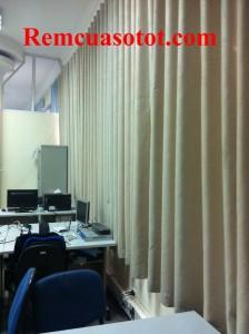 Làm rèm vải cản sáng cho khu thư viện ĐHBK, Hai Bà Trưng, Hà Nội 2