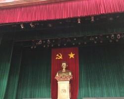 Làm phông hội trường cho trường tiểu học Vĩnh Tuy, quận Hai Bà Trưng, Tp Hà Nội