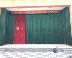 Làm phông hội trường cho tòa nhà Võ Chí Công, Tây Hồ, Hà Nội