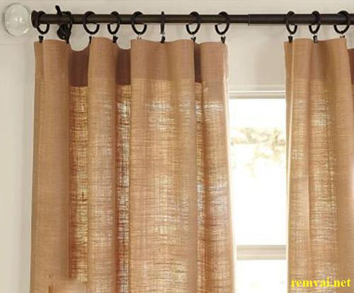 Rèm cửa vải bố mang nét đẹp nguyên sơ hoang dã mã RVB 101