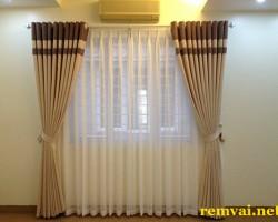Rèm cửa vải phong thủy cho người mệnh Mộc ở Hà Nội mã RV 134