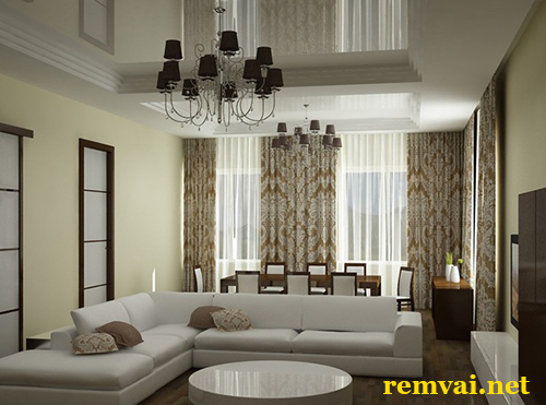 Rèm vải chống nắng ở Hà Nội mã RV 207