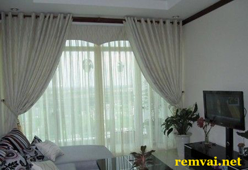 Rèm cửa bằng vải đẹp ở Hà Nội mã RV 158