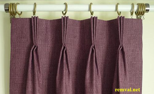Rèm vải bố màu ghi đậm đẹp chuyên nghiệp, sành điệu mã RVB 102