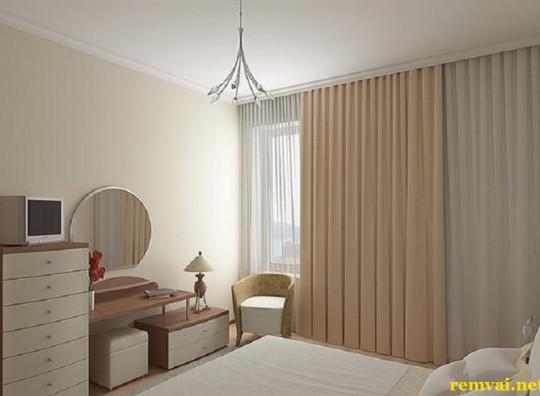 Rèm vải cản nắng cho phòng ngủ đẹp mã RV 225