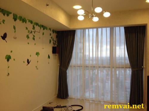 Rèm vải cho phòng khách cực đẹp mã RV 128