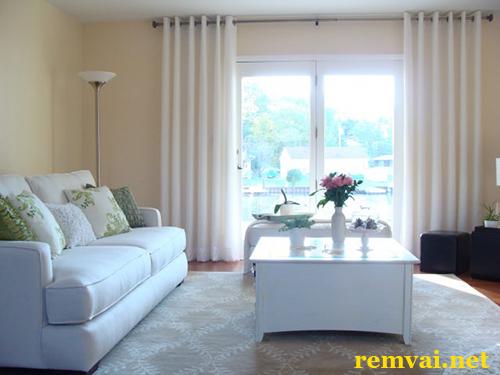Rèm vải cho phòng khách đẹp giá rẻ ở Hà Nội mã RV 115