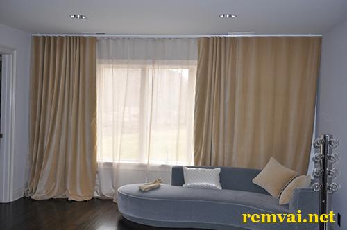 Rèm cửa bằng vải giá rẻ ở Hà Nội mã RV 206