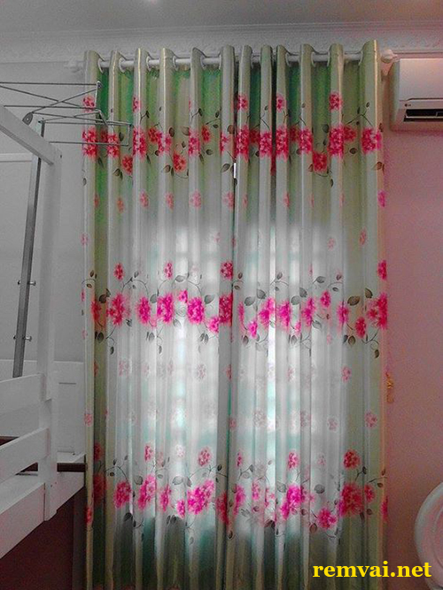 Rèm vải chống nắng 2 lớp đẹp giá rẻ mã RV 120