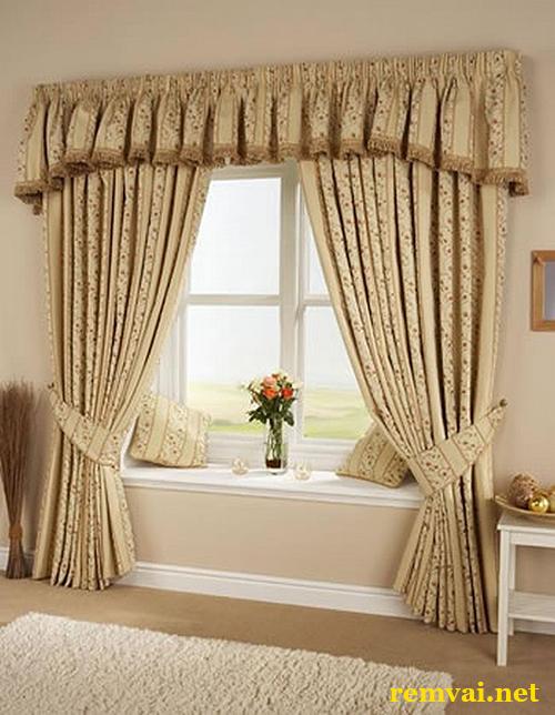 Rèm vải giá rẻ cho cửa sổ đẹp mã RV 130
