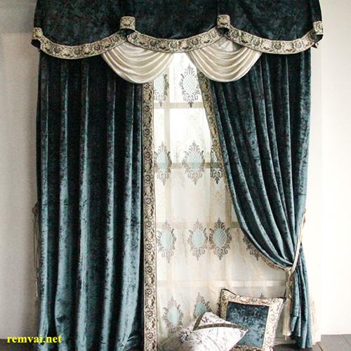 Rèm vải nhung 2 lớp cho cửa sổ mã RVN 107