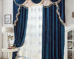 Rèm vải nhung kín đáo cho phòng ngủ mã RVN 110