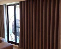 Rèm vải thô cho phòng khách giá rẻ mã RVT 102