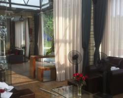 Thi công rèm vải cao cấp đẹp cho khu biệt thự nghỉ dưỡng Đại Lải Resort