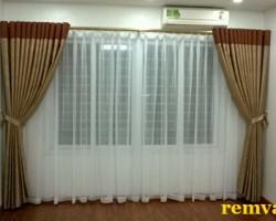 Rèm vải 2 lớp cho phòng khách giá rẻ mã RV 149