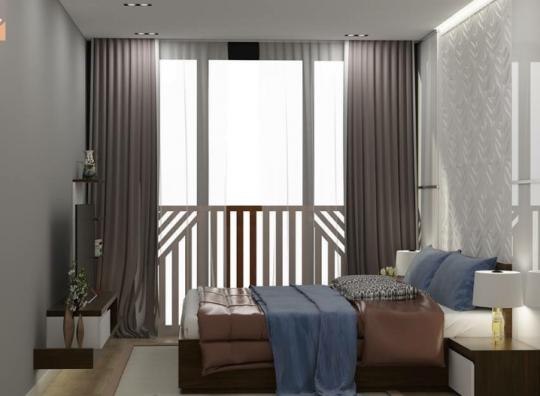 Rèm cửa vải một màu cho phòng ngủ giá rẻ mã RV 307