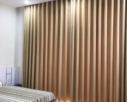 Rèm vải một màu dành cho phòng ngủ đẹp Mã RV 310